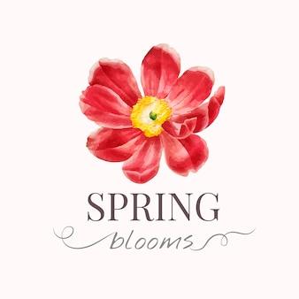 Plantilla de logotipo de la marca flower