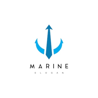 Plantilla de logotipo marino profesional