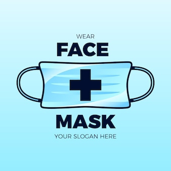 Plantilla de logotipo de máscara facial