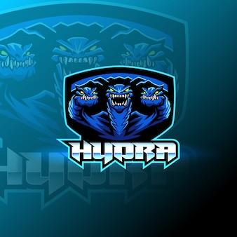 Plantilla de logotipo de mascota de hydra esport