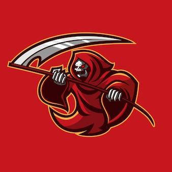 Plantilla de logotipo de mascota juego gim reaper esport