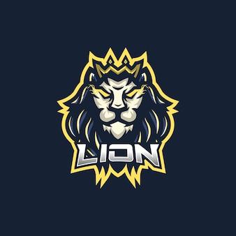 Plantilla de logotipo de mascota de juegos lion esport