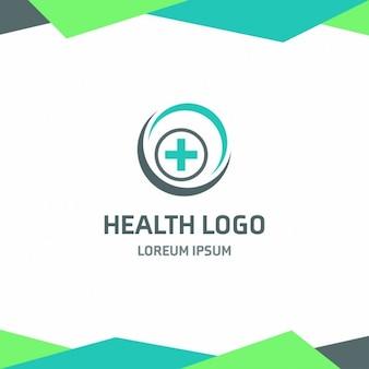 Plantilla de logotipo médico azul y verde