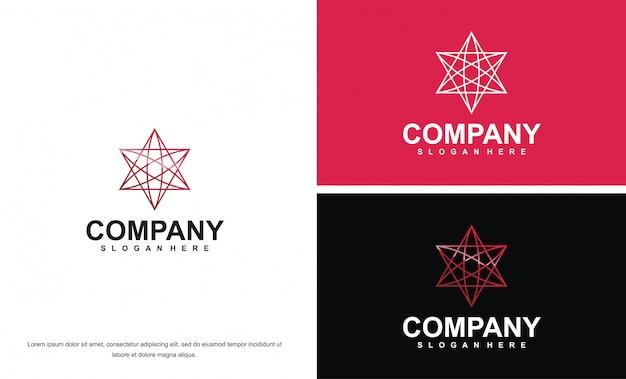 Plantilla de logotipo médico para empresa premium