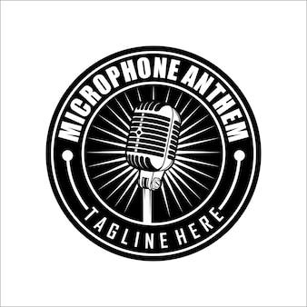 Plantilla de logotipo de micrófono
