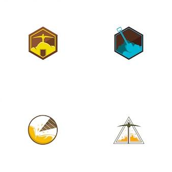 Plantilla de logotipo de minería