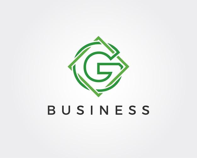 Plantilla de logotipo mínima letra g