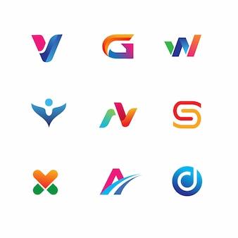 Plantilla de logotipo moderno y minimalista