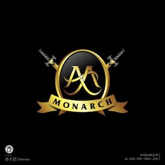 Plantilla de logotipo de monarca
