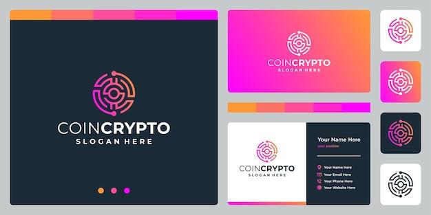 Plantilla de logotipo de moneda crypto con letra inicial s. icono de dinero digital de vector, cadena de bloques, símbolo financiero.