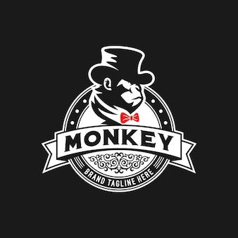 Plantilla de logotipo de mono