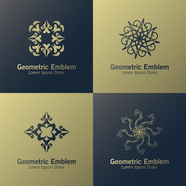Plantilla de logotipo de monograma de lujo