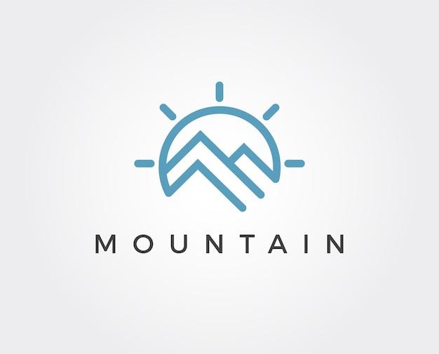 Plantilla de logotipo de montaña mínima