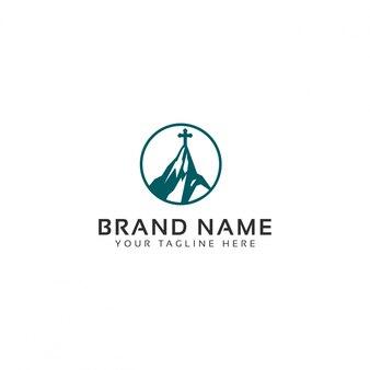 Plantilla de logotipo de mount church