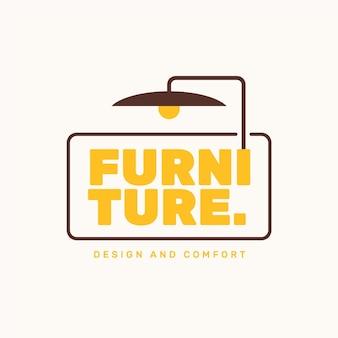 Plantilla de logotipo de muebles