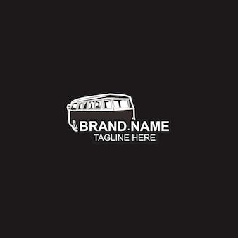Plantilla de logotipo y negro de automóvil.