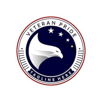 Plantilla de logotipo de orgullo veterano