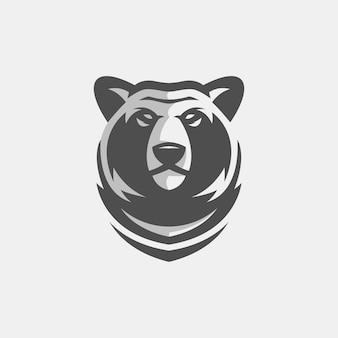 Plantilla de logotipo de oso