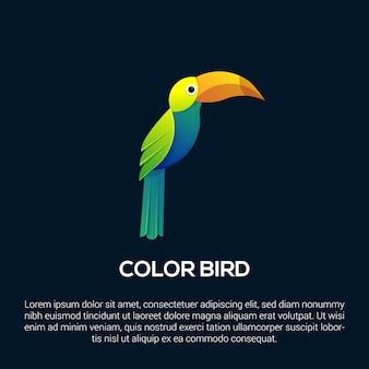 Plantilla de logotipo de pájaro colorido