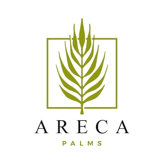 Plantilla de logotipo de palma de areca