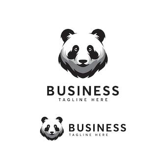 Plantilla de logotipo de panda