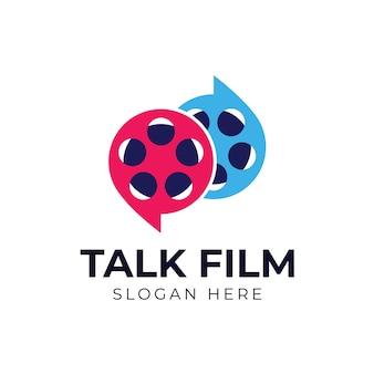 Plantilla de logotipo de película de película de conversación