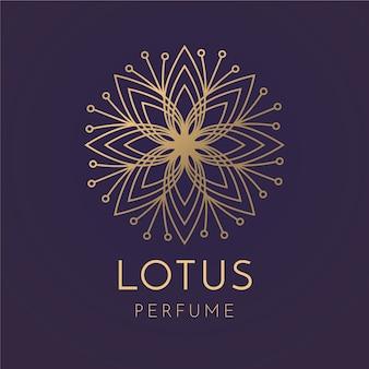 Plantilla de logotipo de perfume floral de lujo