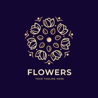 Plantilla de logotipo de perfume de lujo