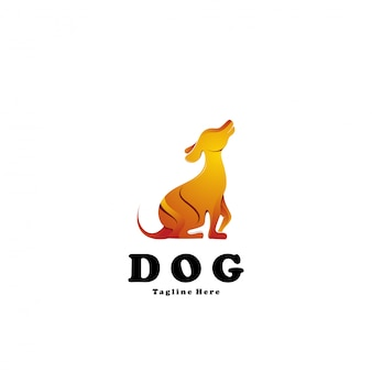 Plantilla de logotipo de perro