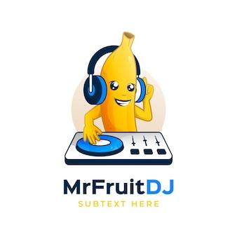 Plantilla de logotipo de personaje de plátano