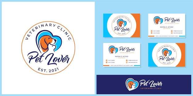 Plantilla de logotipo de pet lover