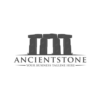 Plantilla de logotipo de piedra antigua