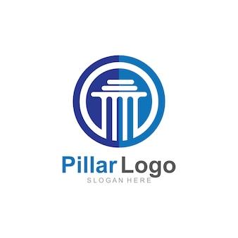 Plantilla de logotipo de pilar