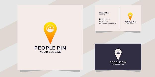 Plantilla de logotipo de pin de personas