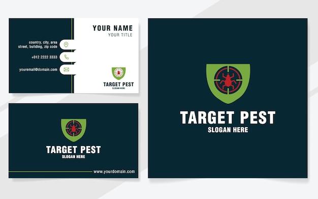 Plantilla de logotipo de plagas objetivo en estilo moderno