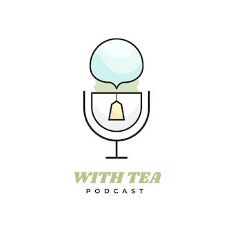 Plantilla de logotipo de podcast creativo