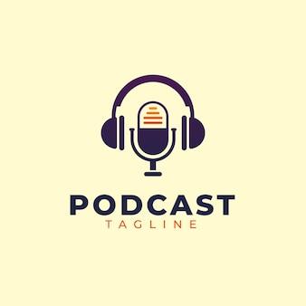 Plantilla de logotipo de podcast detallada