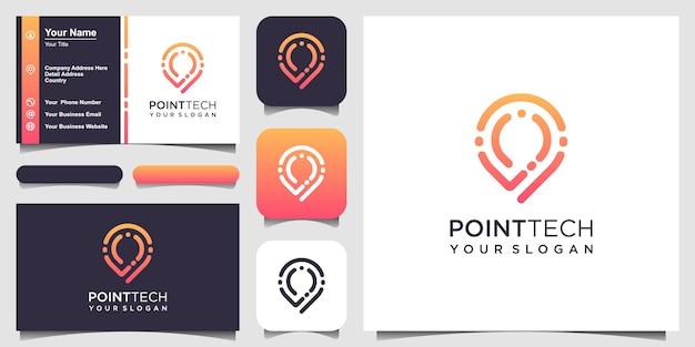 Plantilla de logotipo de point tech