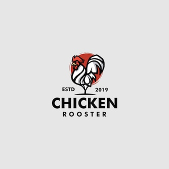 Plantilla de logotipo de pollo