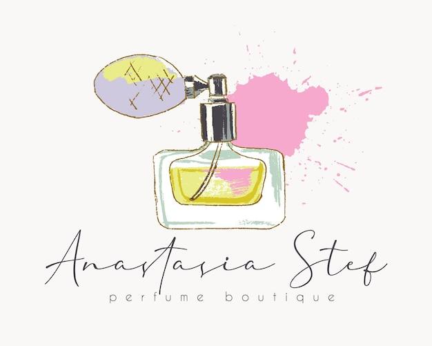 Plantilla de logotipo prefabricado de fragancias de perfume