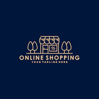 Plantilla de logotipo premium de compras en línea