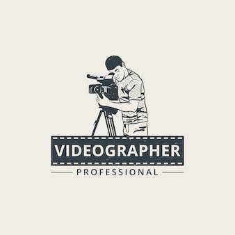 Plantilla de logotipo profesional camarógrafo