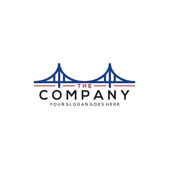 Plantilla de logotipo de puente