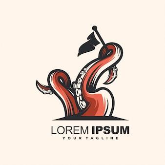 Plantilla de logotipo de pulpo