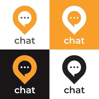 Plantilla de logotipo de punto de chat
