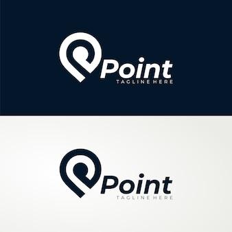 Plantilla de logotipo de punto