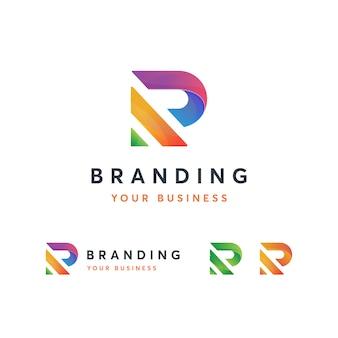 Plantilla de logotipo r