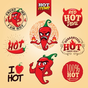 Plantilla de logotipo de red hot chilli
