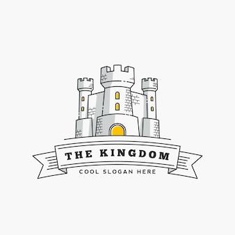 Plantilla de logotipo del reino fortaleza.