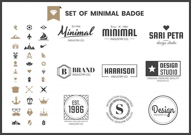 Plantilla de logotipo retro vintage
